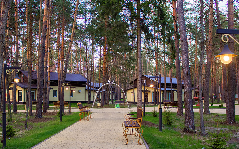 Территория базы отдыха Зеленый бор Брянск