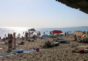Черное море. Пляж в Пляхо, Всероссийский детский центр Орленок