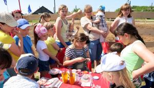Аквагрим на детском фестивале в Вязках под Орлом