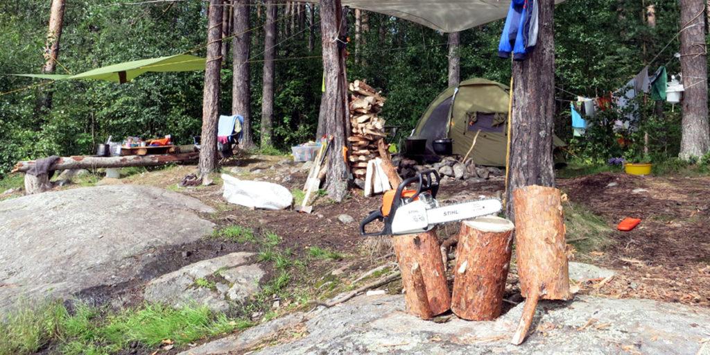 Нужно ли брать бензопилу Stihl MS 180 в поход, чтобы пилить дрова
