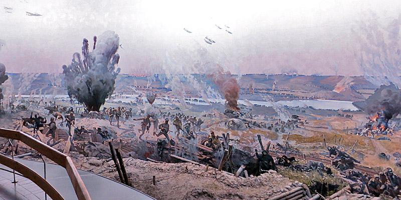 Диорама в Военно-историческом музее в Орле