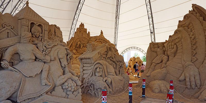 Мега песочница для детей в Сочи Парке