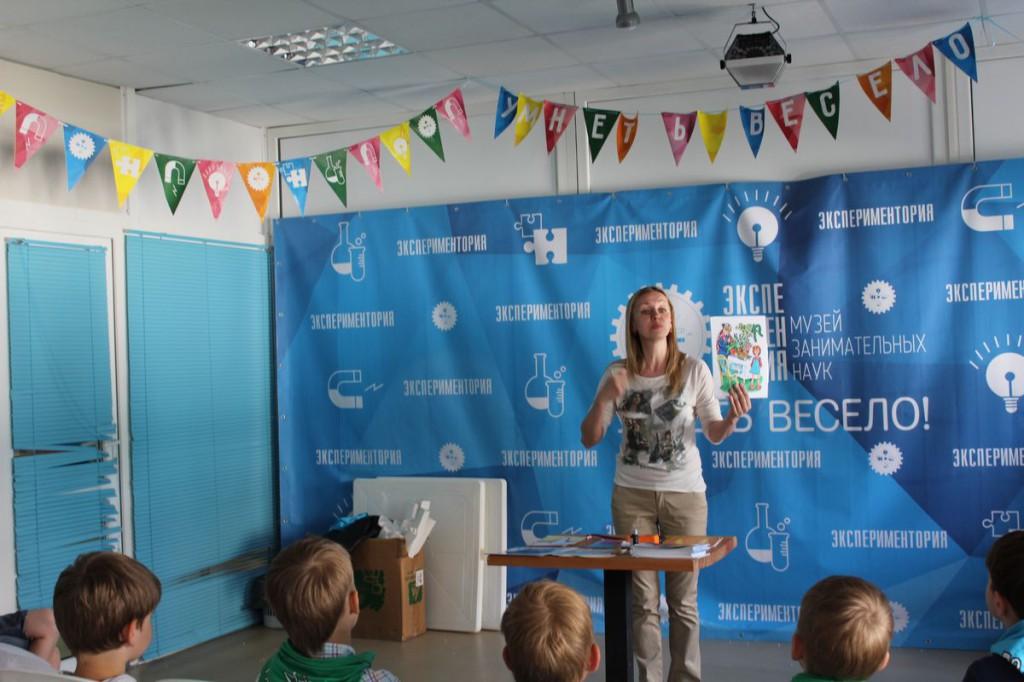 Занятия в научном детском лагере
