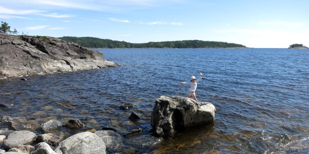 Вид на Ладожское озеро. Одна из бухт полуострова Рауталахти