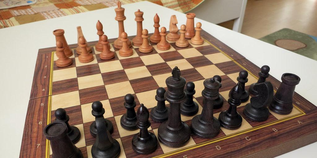 Купить деревянные шахматы для детей недорого