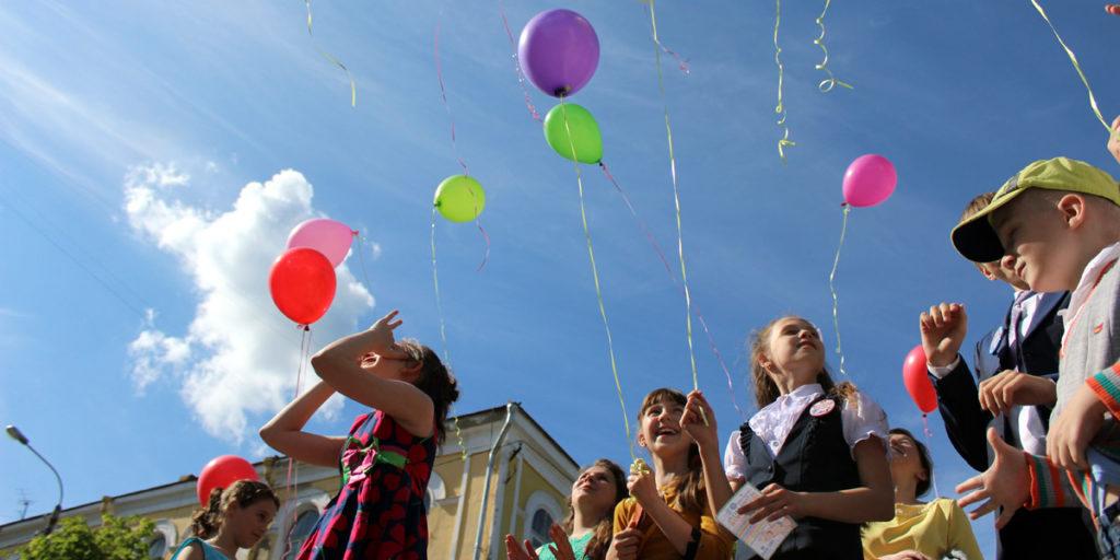 Церемония запуска воздушных шаров