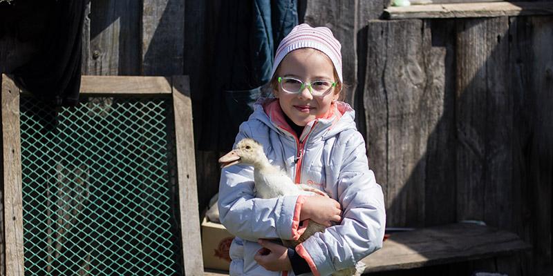 Маша Рыболовлева с гусенком - Другая жизнь