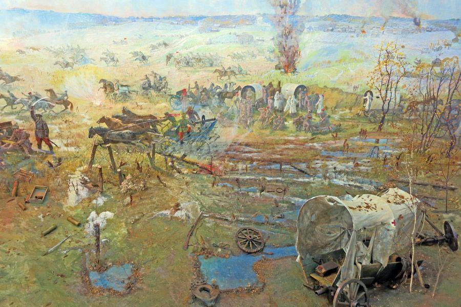 """Диорама """"Сражение под Кромами. 1919 год."""""""