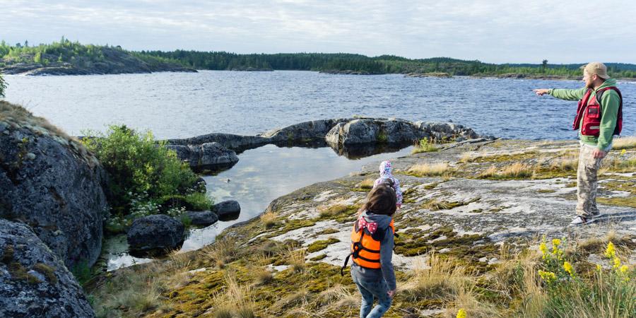 Экскурсия по заливу Кочерга (Муролахти) в Ладожском озере