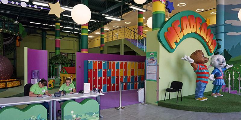 Вход в детский центр Страна Медведия Сочи Парк