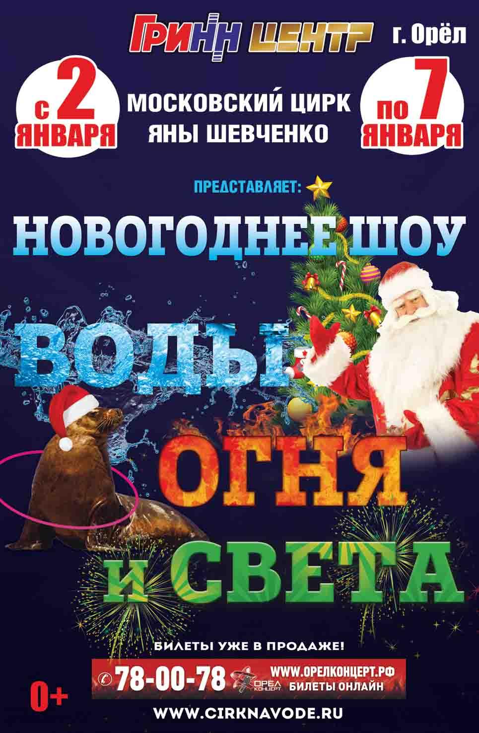 Новогодняя елка и цирк в ГРИННе 2018 2019